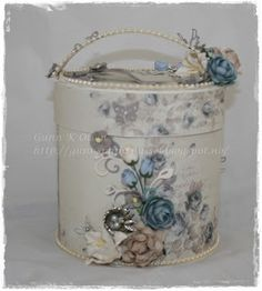 Gift box, gave eske, vintage, Pion Design, papirbretting, paperfolding, 3D, scrapbooking, scrapbook, paper, papir