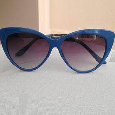 Cat eyeglasses Cute and fun blue cat eye sunglasses Charming Charlie Accessories