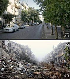#Syria: Homs 2011 v Homs 2014