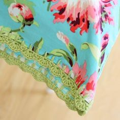 """Pretty right?  If you want to learn how to make these gorgeous crochet-edged pillow cases, check out YouGoGirl for a step-by-step tutorial.  This one is on my """"must do"""" list!"""