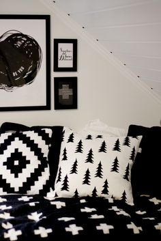Pia Wallen Cross blanket + Little Fine Day cushion