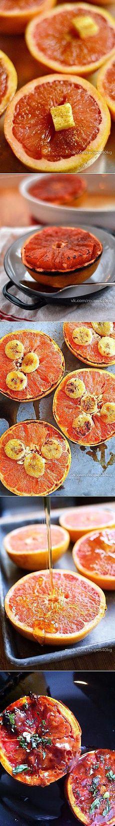 Жиросжигающая бомба! Запеченный грейпфрут с корицей — Диеты со всего света
