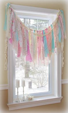 Easter Vintage Fabric Garland in Shabby Chic Style by CountryChiq, $40.00