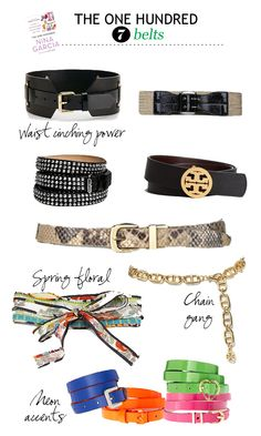 Shop The 100: #7 Belts - what you should have and how to wear them
