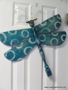 Dragonfly Door Art...with a table leg!