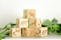 Noc Noc specialises in handmade Wooden Baby Blocks. Stocking Stuffers For Kids, 1st Birthday Gifts, Handmade Wooden Toys, Woodland Theme, Teething Toys, Wooden Blocks, Holiday Gifts, Decorative Boxes, Place Card Holders