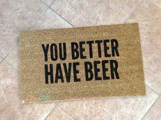 Beer Gift  Beer  Beer Doormat  Beer Mat  Man Cave Decor
