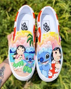Custom Vans Shoes, Custom Painted Shoes, Hand Painted Shoes, Custom Converse, Disney Painted Shoes, Disney Shoes, Disney Vans, Kid Shoes, Girls Shoes