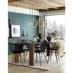Need some help decorating your unique dining room design? We have the solutions! This contemporary dining room ideas are the perfect home interior decor you've been waiting for! Dining Room Walls, Dining Room Design, Living Room Decor, Living Spaces, Green Dining Room, Black Wall Shelves, Modern Wall Decor, Room Colors, Paint Colors