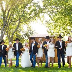 casual country wedding party - Google Search                                                                                                                                                      More