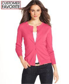 August Silk Long-Sleeve Silk-Blend Cardigan - Sweaters - Women - Macy's
