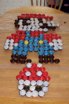 cupcakes are a delicious art Pull Apart Cake, Pull Apart Cupcakes, Cupcake Cookies, Mini Cupcakes, Super Mario Cupcakes, Cupcake Collection, Decadent Food, Diy Snacks, Mario Party