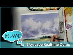 Clean Magic Eraser to make additions to your watercolor painting. Watch this demo to discover how. Watercolor Clouds, Watercolor Video, Watercolour Tutorials, Watercolor Artists, Watercolor Techniques, Watercolor Landscape, Watercolour Painting, Painting Tutorials, Watercolor Basic