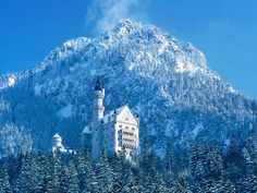 Winter scene at Neuschwanstein Castle - Bavaria, Germany Beautiful Castles, Beautiful Places, Oh The Places You'll Go, Places To Visit, Snow Pictures, Pretty Pictures, Architecture Wallpaper, Net Architecture, Germany Castles