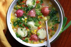Supper with Michelle: Spring Corn and Potato Chowder