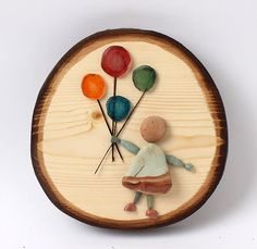 Log Projects, Projects To Try, Sticks And Stones, Shell Art, Pebble Art, Stone Art, Rock Art, Lovers Art, Baby Gifts