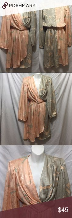 828c9e3a461c Vintage 70s plunge wrap dress light weight S M Over the top gorgeous silky  lightweight
