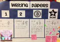 This download includes the anchor papers, numbers, and title needed to make this writing rubric. (You can read more about the actual writing lesson at Creating Readers and Writers Blog.) $ #anchorpapers #writingrubric #writingworkshop