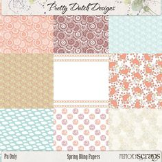 Spring Bling Papers | Pretty Dutch Designs