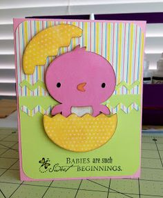 Create a Critter.  Baby shower card.