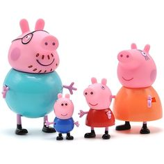 """Universe of goods - Buy """"Peppa pig George guinea pig Family Pack Dad Mom Action Figure Original Pelucia Anime Toys For Kids Christmas Gift Toys"""" for only USD. Cool Toys For Boys, Kids Toys, Baby Toys, Funny Valentine, Peppa Pig Familie, Familia Pig, Happy Pig, Pig Family, Pig Character"""
