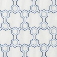 """Logan Linen Style Curtains in navy/baby blue geometric color combination, standard 84"""" and 96"""" inch length, extra long 108"""" inch curtains and 120"""" inch draperies : available with lining/interlining : grommets, back-tabs and rod pocket : classic or modern window treatments"""