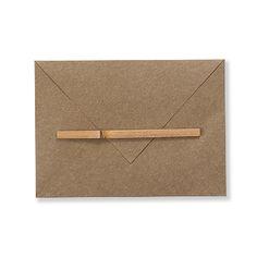 封筒 S ブラウン 368yen 手紙を出す際に使える味わいのある封筒