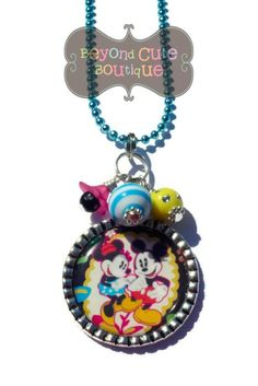MIDNIGHT NECKLACE /// Keychain /// Mickey by BeyondCuteBoutique // Vera Bradley Disney purse accessory clip