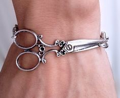 Antique Silver scissor bracelet  $8.50, via Etsy. Cosmetology!!!