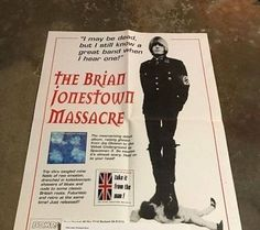 The Brian Jonestown Massacre - Rare Poster - BOMP! - Beck - Oasis - The Verve
