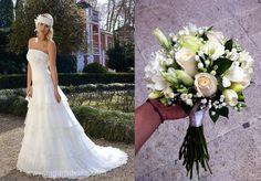 Bouquet variado blanco Lisianthum