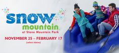 #snowmountain Great holiday vacation in Stone Mountain, GA.   Lots of snow and holiday fun. #christmastime