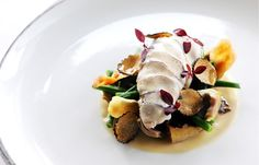 Breast of Partridge with Shiitake Mushroom, Baby Artichoke and Truffles by Robert Thompson: Amazing!