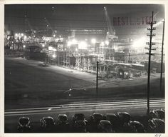 Evansville, Indiana shipyard during WWII