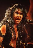 W.A.S.P. - Blackie Lawless - performing live at the Lyceum Theatre in London UK - 24 Sep 1984.  Photo credit: George Chin/IconicPix