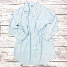 Seersucker Lounge Shirt - Blue