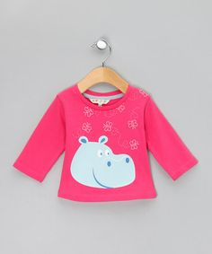 Take a look at this Pink Hippo 3/4 Sleeve Tee by WW Group on #zulily today!