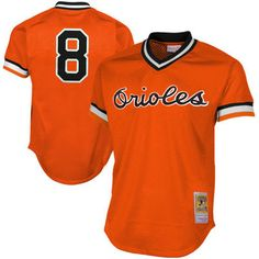 64f505f74 Men s Baltimore Orioles Cal Ripken Jr Mitchell   Ness Orange 1988 Authentic  Cooperstown Collection Mesh Batting Practice Jersey