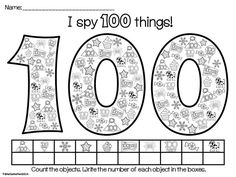 Day of School NO PREP activities! Great for centers, morning work or Day of School books. Math Classroom, Kindergarten Math, Classroom Ideas, 100s Day, 100 Day Celebration, 100 Days Of School, School Stuff, Teaching Activities, Teaching Ideas