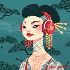Hear No Evil Art Print by Yoshi Yoshitani
