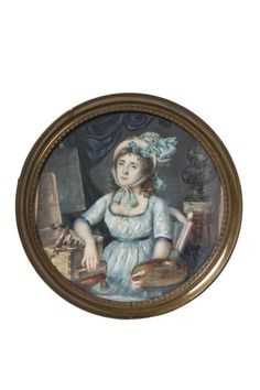 [Portrait de Madame Vigée Lebrun dans son atelier] | Centre de documentation des musées - Les Arts Décoratifs