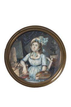 [Portrait de Madame Vigée Lebrun dans son atelier]   Centre de documentation des musées - Les Arts Décoratifs