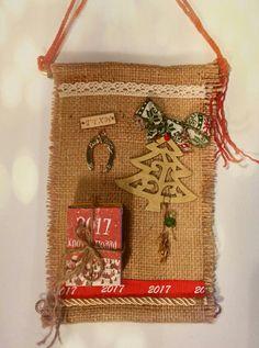 Burlap, Reusable Tote Bags, Xmas, Deco, School, Crafts, Christmas Ornaments, Crowns, Manualidades