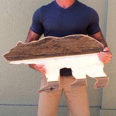 Bear. Pombo Art. Custom 2ft reclaimed wood ( avepom@yahoo.com )