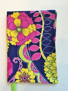 Floral Book Cover Fabric Book Cover Book Cover by momssewingroom