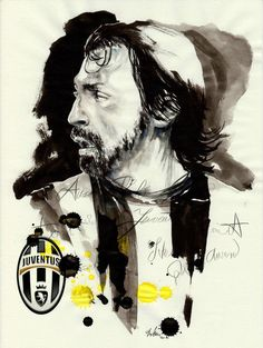Andrea Pirlo Juventus - parker pen, ink, illustration by Mitja Bokun, January 2013