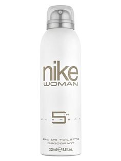 Deodorant spray dama Nike 5th Element - 200 ml - floral - fructat - gurmand. Note de varf: capsuna, patchuli, portocala; note de inima: trandafir, zmeura, crin; note de baza: praline, mosc, iasomie. Mtv, Nike Women, Presentation, Aqua, Water Bottle, Eau De Toilette, Fragrance, Water, Women Nike