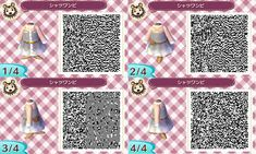Animal Crossing: New Leaf QR - White Shirt Dress