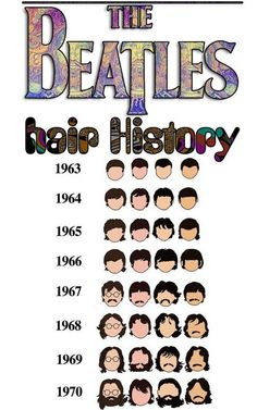 The Beatles Hair History - via We can be honest + musicapave.tumblr.com
