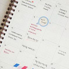 SUN MRN - Korean Stationery - Mon Journal Planner - Gray #journal #notebook #writing #planner